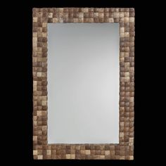 Organic Wall Mirror Made of Coconut Shells | Unique Rectangular Mirror Made From Coconuts on Etsy, $295.00