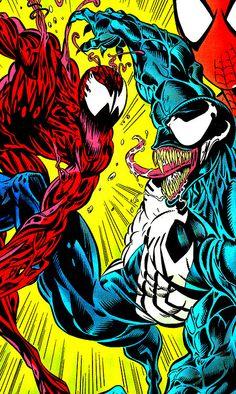Carnage vs Venom in Amazing Spider-Man Vol. 1 #378 (June 1993) - Mark Bagley & Randy Emberlin