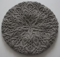 Ravelry: Cables & Lace Beret pattern by Michele Wang Baby Cardigan Knitting Pattern Free, Lace Knitting, Knitting Stitches, Knitting Designs, Crochet Yarn, Knitting Patterns Free, Yarn Projects, Knitting Projects, Knitting Room