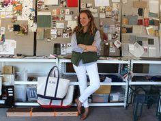 Tomboy Style: Q | Frances Merrill Bean bags white jeans vest