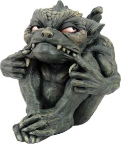 Green Toads Gargoyle - cute  You know this one is up to something in the garden…maybe snapping back at the snapdragons?