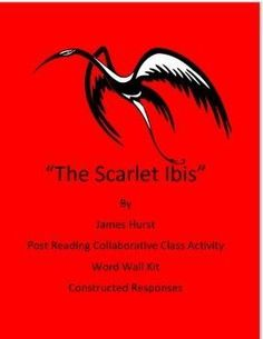 """the scarlet ibis tone In james hurst's short story, """"the scarlet ibis,"""" hurst uses foreshadowing and flashback to establish a reminiscent tone [tags: doodle, abandonment, death] :: 1 works cited, 1024 words (29 pages), strong essays, [preview] brother vs his pride: the scarlet ibis - pride changed the way brother thought about doodle."""