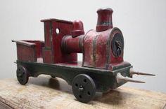 Edwardian English Antique Toy Train, what a wonderful toy train