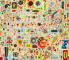 fun. vibrant. happy collage.