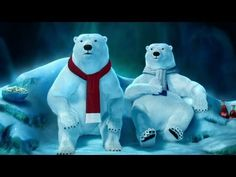 """Coke 2012 Commercial: """"Superstition"""" / Two Polar Bears are main character in this video. and the Coca - Cola company want to tell to audience about when the people watching the game, they need Coke. Vintage Coca Cola, Coca Cola Poster, Coca Cola Polar Bear, Coca Cola Christmas, Pet Peeves, Bear Art, Tv Commercials, Coke, Super Bowl"""