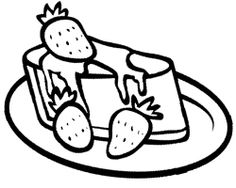 Strawberry Cheese Cake Coloring Page