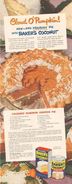 Coconut Pumpkin Chiffon Pie!