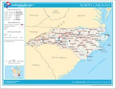 18 Best North Carolina maps images