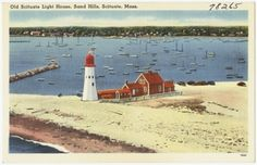 Old Scituate Light House, Sand Hills, Scituate, Mass.