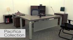 Modern Executive L Desk | NBF Pacifica | National Business Furniture