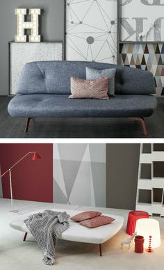 Convertible fabric sofa bed BANDY by Bonaldo   #design Pier Vittorio Prevedello