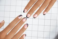 Manicurist Madeline Poole offers her step by step nail art tutorial for a sophisticated, geometric design.