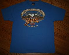 Harley Davidson Final Assembly Plant Museum York, PA Motorcycle T-Shirt-Men's XL
