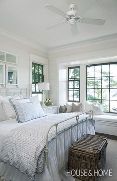 Pale Blue And White Muskoka Bedroom | House & Home