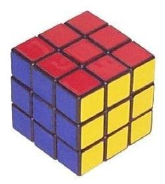 Who had a Rubik's Cube? We had two! It was a mechanical 3D puzzle. You had to mix all the colors and then, for the puzzle to be solved, each face would have to be a solid color again.