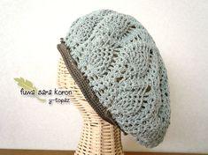 コットン*ベレー帽 pineapple スモーキーブルー|キャップ|ハンドメイド通販・販売のCreema