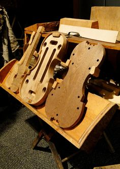 The beginnings of a violin.