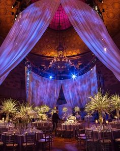 We love this event #lighting with blue #texturelight #gobos!: #weddingstylemagazine #christianothstudio