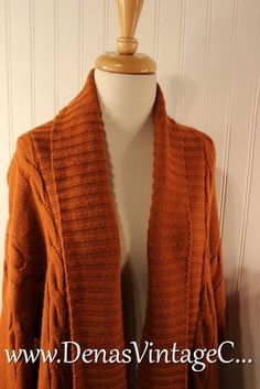 Vintage 70s Cinnamon Pumkin Long Knit by DenasVintageCloset