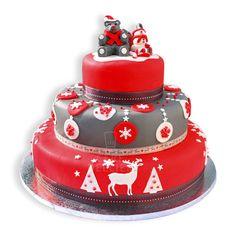Gâteau de Noël en pâte à sucre | cerfdellier le blog