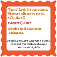 Look, it's real simple ~ Ferris Bueller's Day Off (1986) ~ Movie Quotes ~ #moviequotes #ferrisbueller #amusementphile