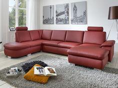 Lambada rohová sedací souprava vínová / Red living room sofa Living Room Red, Living Room Sofa, Couch, Furniture, Design, Home Decor, Settee, Decoration Home, Sofa
