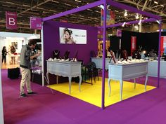 Love the booth design for indoor show, Bijorhca July 2013- Paris Fashion Jewelry Show- TRIA ALFA booth