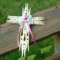 Clothes Pins Crosses, Clothes Pin Crosses, Diy Clothes Pins Crafts, Clothes Pin Cross Diy, Clothespin Wreath, Clothes Pin Art, Clothespin Cross Diy, ...
