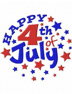 . Happy 4 Of July, Fourth Of July, Embroidery Designs, Stencils, Blessed, Logos, Blessings, Cards, Graphics