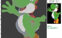 Yoshi (Super Mario) patrón punto de cruz