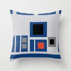 Star Wars - R2-D2 Throw Pillow by Juan Martos - $20.00