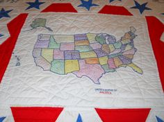 Handmade Quilt featuring all the states state by MissPattisAttic