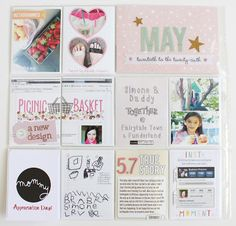 HEART-SHAPED PHOTOS, DOODLE TITLE ACROSS TWO CARDS :: The Picinic Basket: Project Life 2013