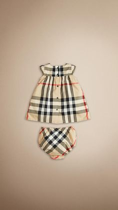 UMM... YES PLEASE!! Classic Check Cotton Dress | Burberry