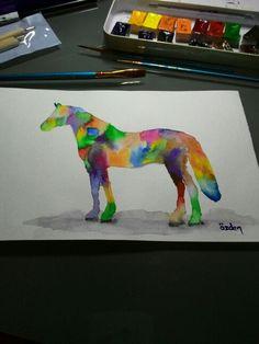 horse watercolor Watercolor Horse, Parrot, Dinosaur Stuffed Animal, Horses, Bird, Toys, Animals, Parrot Bird, Animales