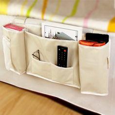 Household Bed Sofa Hanging Bedside Storage Bag Hang Sundries Magazines Remote Control Books Phone Tissue Holder Organizer V2123