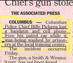 You'd think the prisoners would have kept a closer eye on those. Funny Ads, Funny Signs, The Funny, Hilarious, Newspaper Funnies, Newspaper Headlines, Police Humor, Funny Police, Oh The Irony