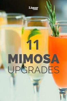 11 Mimosa Upgrades to Make Brunch Better! Try these inspired variations on your favorite day-drinking cocktail.