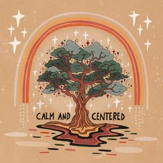 Calm and centered Mini Art Print by Asja Boros – Without Stand – x - spirituality Photo Wall Collage, Picture Wall, Citations Yoga, Wal Art, Plakat Design, Hippie Art, Hippie Peace, Hippie Life, Happy Words