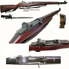 """Garand"" Self-Loading Battle-Rifle. - Funnest rifle I have ever had the pleasure of shooting M1 Garand, Hiroshima, Nagasaki, Weapons Guns, Guns And Ammo, Battle Rifle, Fukushima, Assault Rifle, Cool Guns"