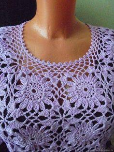 Crochet Shirt, Crochet Jacket, Crochet Motif, Easy Crochet, Crochet Flowers, Crochet Stitches, Free Crochet, Knit Crochet, Crochet Patterns