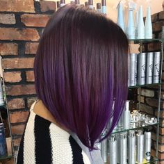 Asymmetrical Purple Bob