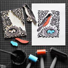 Robin's Nest : Original Print by Andrea Lauren