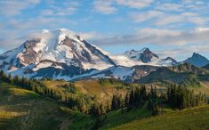 This photo is of Mount Baker in northern Washington on the Canada border.