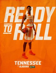Tennessee Basketball Game Previews 2015-16 on Behance