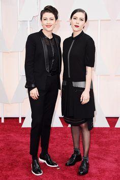 Tegan & Sara on the Red Carpet at the Oscars 2015