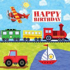 16 Geburtstags Servietten Fahrzeuge