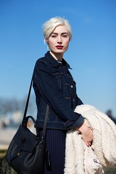 Dramatic Denim | The Sartorialist: On the Street…Les Tuileries, Paris