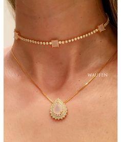 Compre Choker riviera zirconias quartzo rosa e cristal semi joia na Waufen ✓ Semjoias Finas ✓ Ótimos Preços ✓ Entrega Rápida e Segura ✓ Pgto em até 12 Vezes