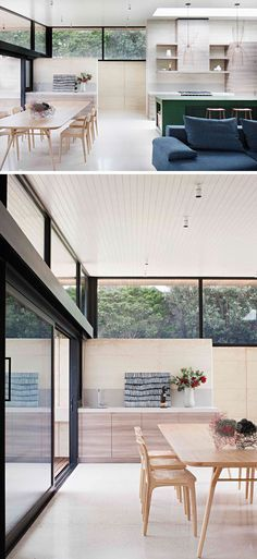 Robson Rak Architects and Interior Designers have recently completed the Layer House, a modern house in Australia built using rammed earth and timber. Rammed Earth Homes, Rammed Earth Wall, Bookshelves Built In, Built In Bench, The Design Files, Küchen Design, Archi Design, Design Ideas, Interior Design